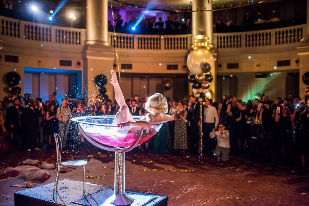 burlesque champagne act