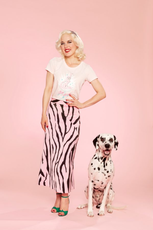 Fay en Cliff burlesque t-shirt roze